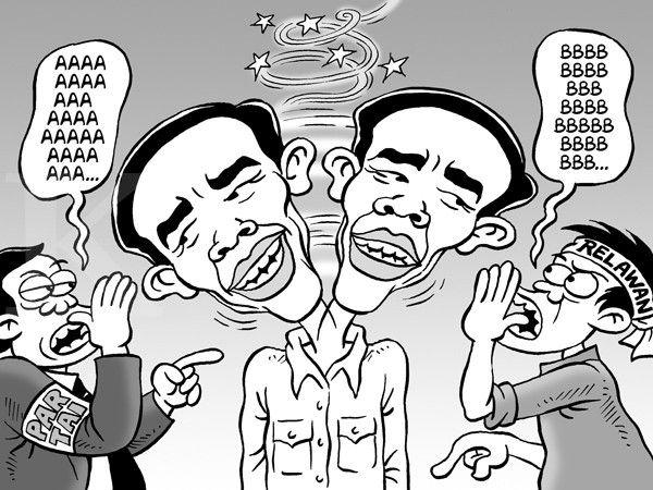 Kartun Benny, Kontan - Januari 2015: Bingung Karena Banyak Bisikan