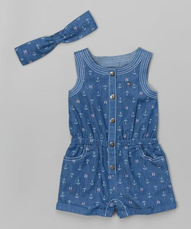 Look what I found on #zulily! Blue Denim Romper & Headband - Infant, Toddler & Girls #zulilyfinds