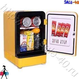 Переносной мини холодильник 220 или 12 В. для пива фруктов 7.5 литров Минихолодильник бар  автомобильный 7.5 литров