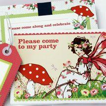 KatyJane Designs - Children's Birthday Fill-in Party Invitation sets (10 invites, envelopes and tags)