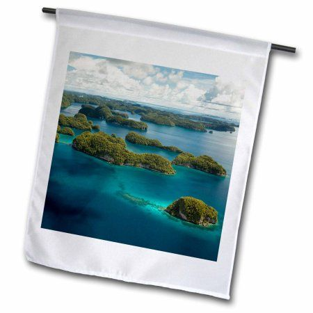 3dRose Rock Islands of Palau, Micronesia Unesco World Heritage Site., Garden Flag, 12 by 18-Inch