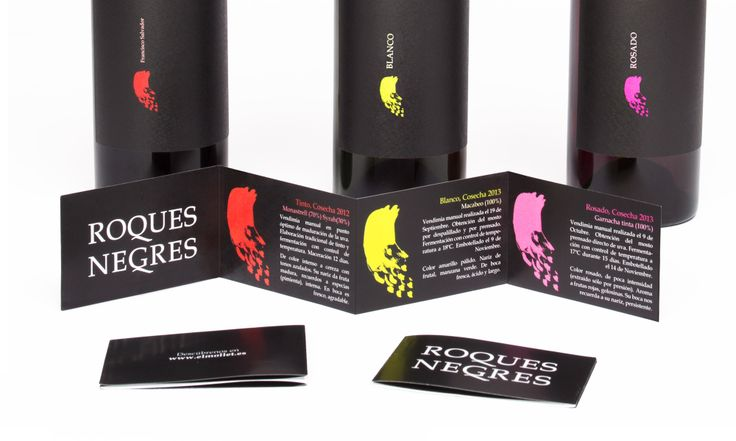 Flyer for Roques Negres wine
