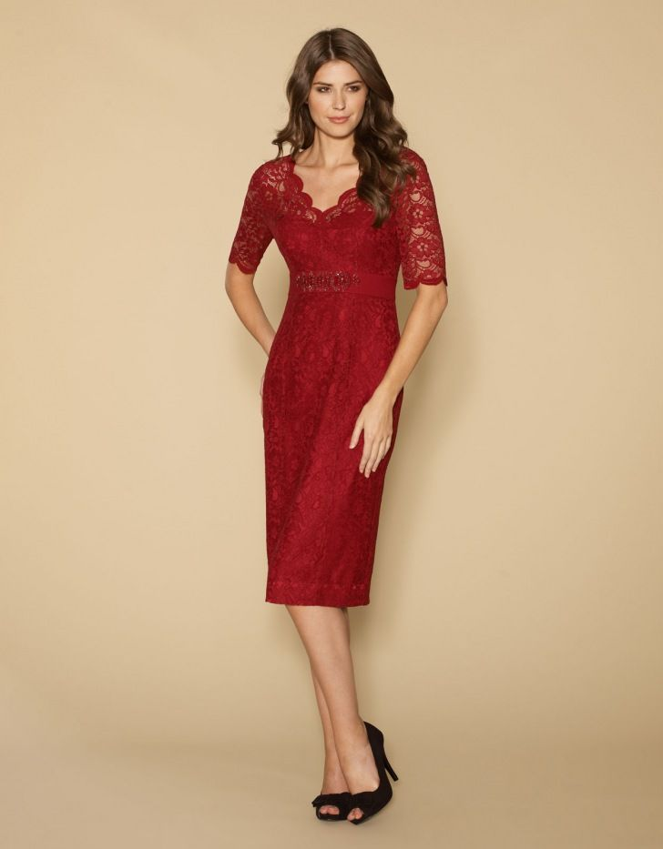 Red Lace Party DressRed Lace Party Dress