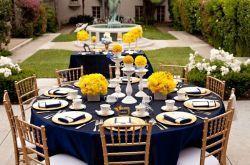 Decoração de Casamento: Azul e Amarelo