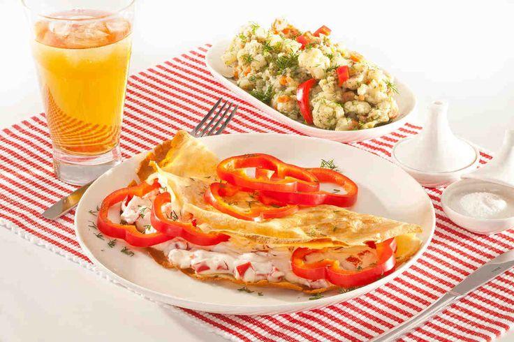 Naleśniki z serem i warzywami #smacznastrona #przepisytesco #naleśnikizserem #warzywa #mniam