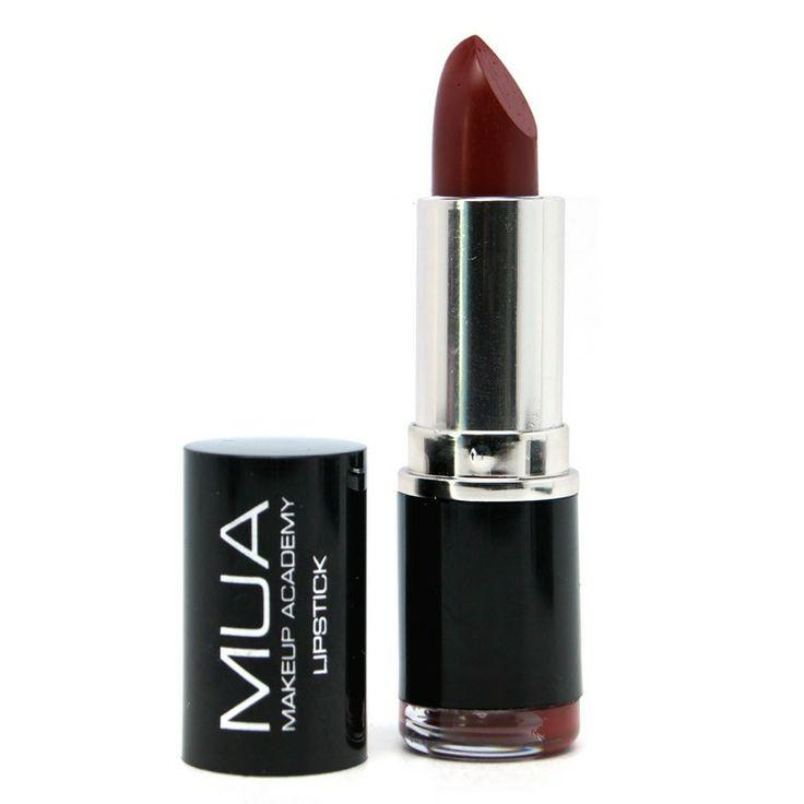 MUA (Makeup Academy) Lipstick in 'Shade 01'. A dark deep berry red.