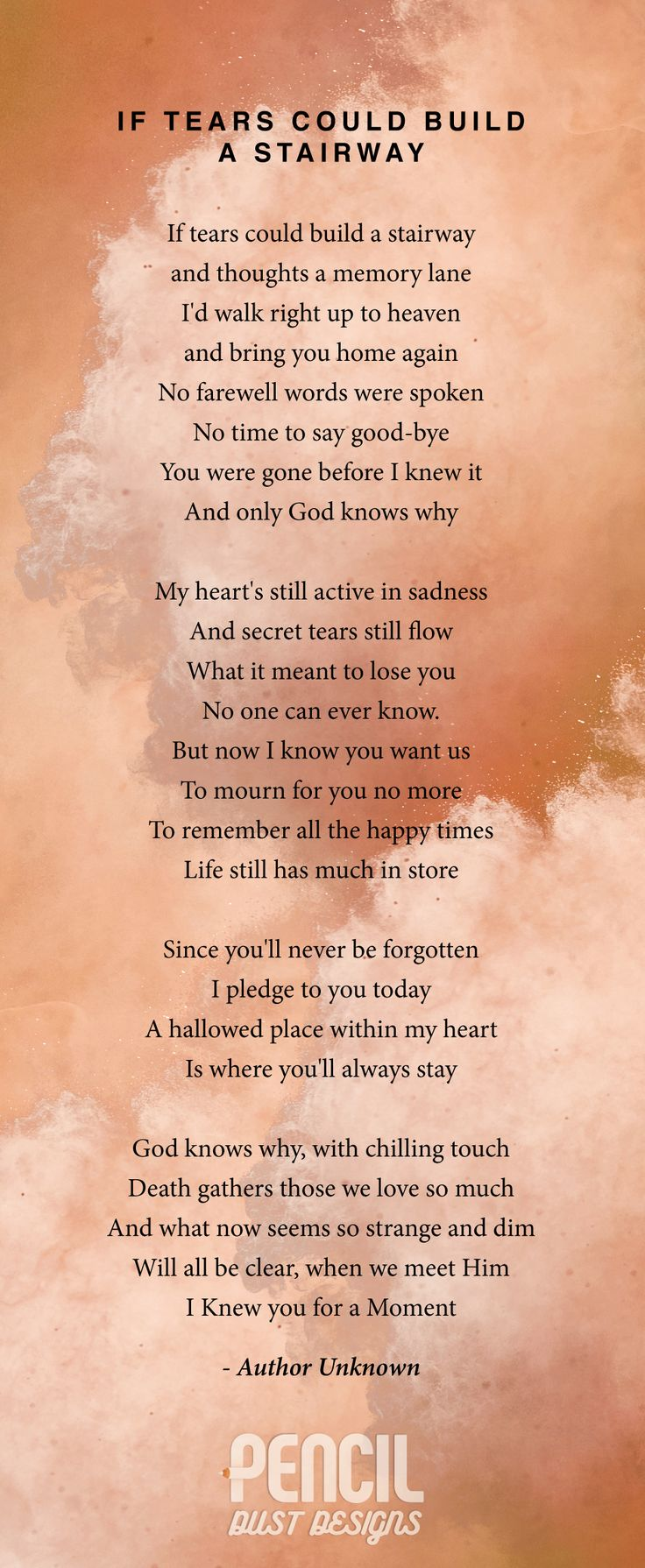 help writing a poem for funeral