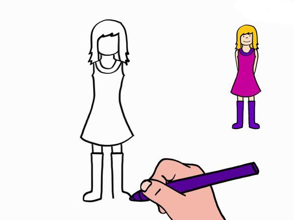 Apprendre A Dessiner Une Petite Fille En 3 Etapes Dessin Petite Fille Petite Fille Apprendre A Dessiner