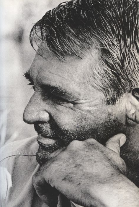 Even with scruff he is something! Cary Grant on the set of Father Goose which he said was the character most like his off camera persona. I think he got a bit grumpier as he aged, but that's normal. He was ready to retire and did soon afterwards.