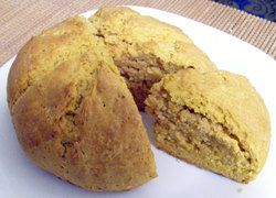 Dampers are a quick and easy way to make your own deliciously flavoured bread at home. Being a quick bread, dampers are not as light as breads that use yeast, but you can compensate by adding other ingredients such as , , and for this recipe, pumpkin.
