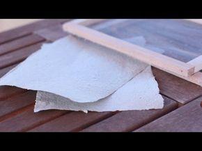 Cómo hacer Papel Reciclado - YouTube