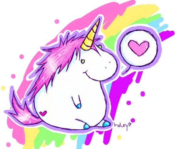 Fat unicorn... my future tattoo... just kidding.