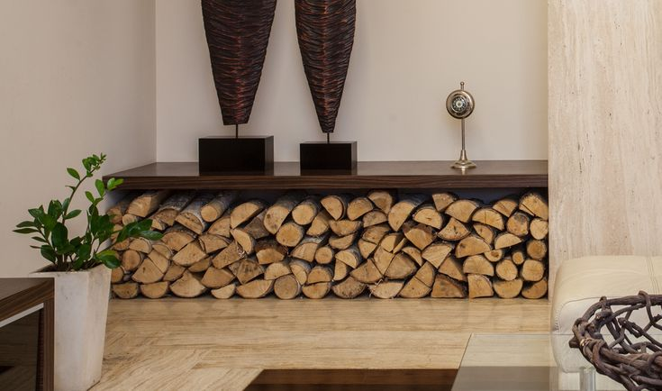 stacked firewood indoors - Google Search