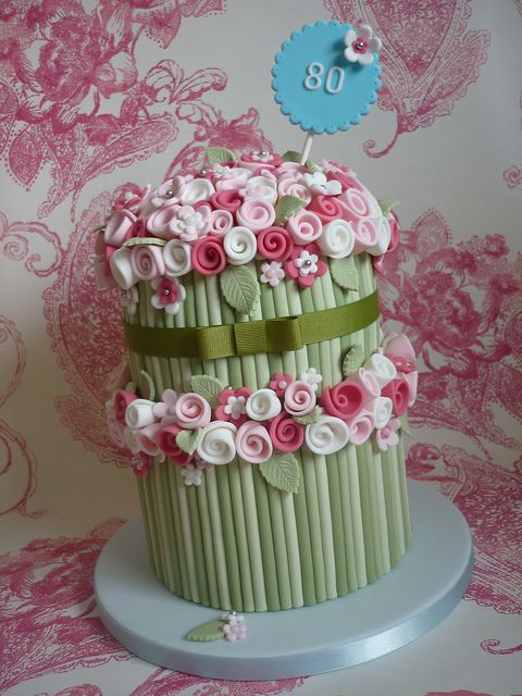 Bouquet birthday cake by The Designer Cake Company, via Flickr