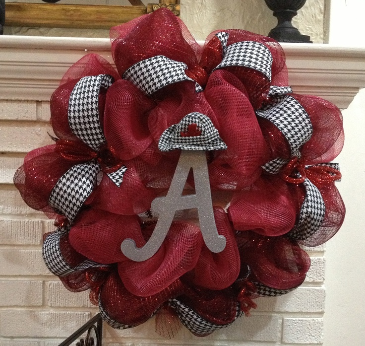 University of Alabama - Door Wreath - Roll Tide Decoration