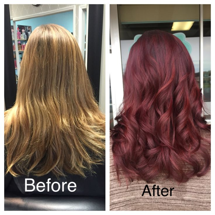 Before And After Blonde To Red Hair Hair Inspo Color