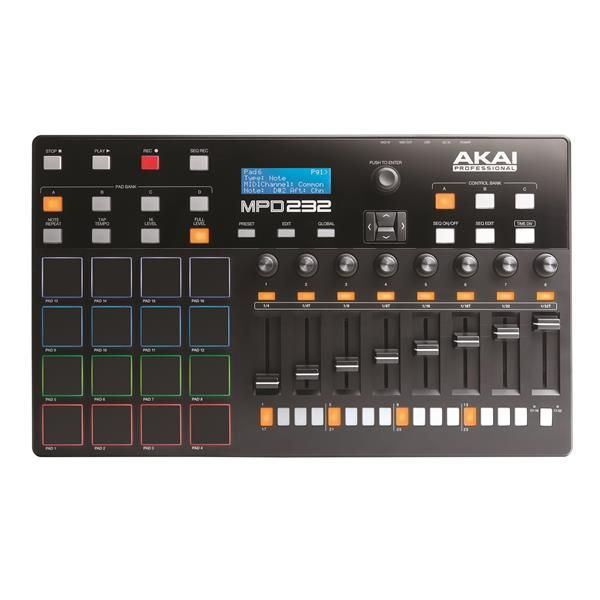 Akai MPD232 USB Midi Pad Controller with 32 Step Sequencer Image 1