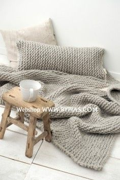 Blanket WOOLY Chunky, LIGHT GREY