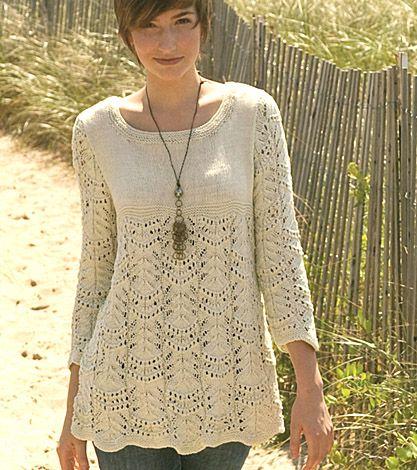 Nashua hand knits Pima cotton. Love this pattern.