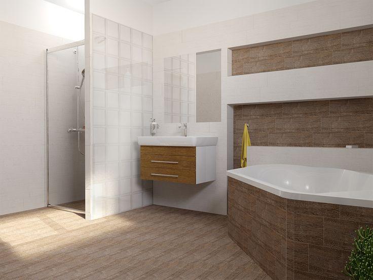 Celou koupelnu lze sladit v jednotných barvách, včetně obkladu, dlažby, nebo koupelnového nábytku.  Pro zákazníka z Opavy