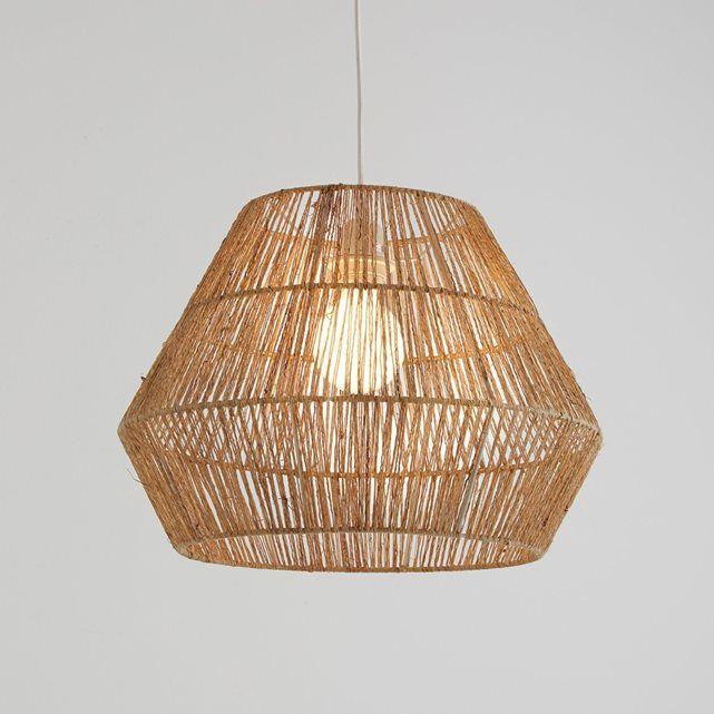 Pantalla de lámpara de techo de cáñamo natural, Yaku La Redoute Interieurs | La Redoute Mobile