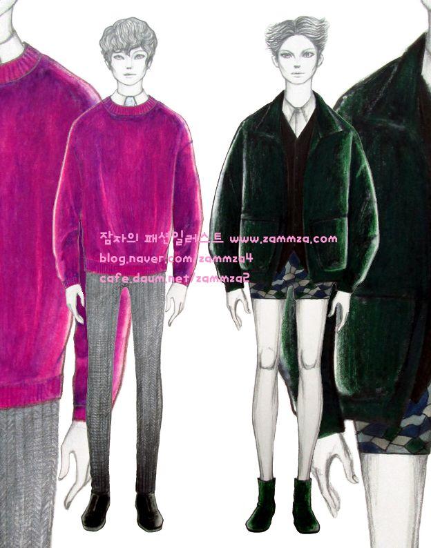 Velvet Fabric ♥ marker+colorpencil ♥ zammza fashion illustration ♥ instagram.com/zammza