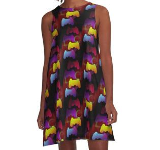 Gaming Colors A-Line Dress by emilypigou  #summerclothing #summervacationsdress…