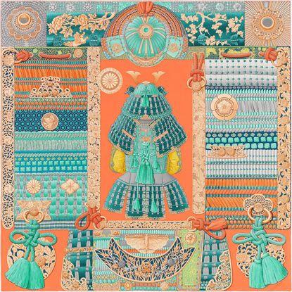 La Maison des Carrés Hermès   Parures de Samouraïs