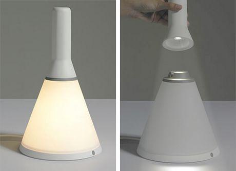 The Lamp Cap Looks Like A Portable Flashlight