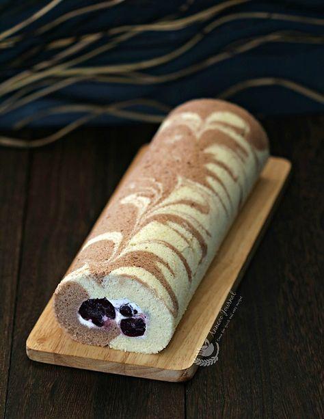 Cherry Swiss Roll Cake 樱桃蛋糕卷 - Anncoo Journal