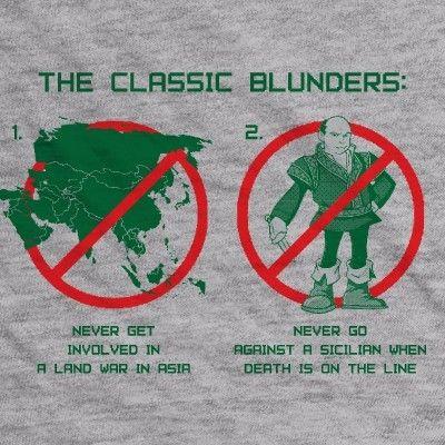 Classic blunders