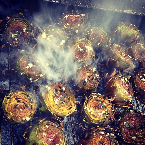 BBQ Artichokes from #breakingeggs  Sicilian Food Odyssey