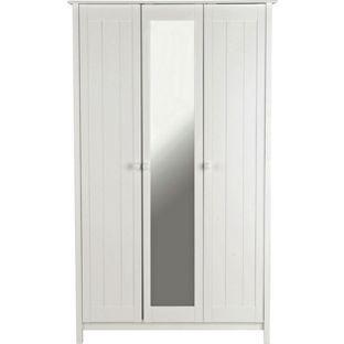 Buy New Scandinavia 3 Door Mirrored Wardrobe   White At Argos.co.uk