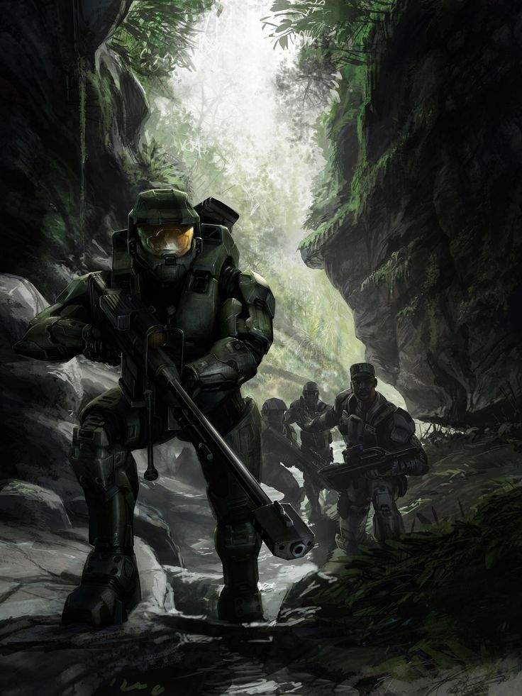 ArtStation - Halo 3 Manual cover 1, Isaac Hannaford