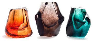 Lucidare Vase, Deepest Lagoon - eclectic - vases - Esque Studio