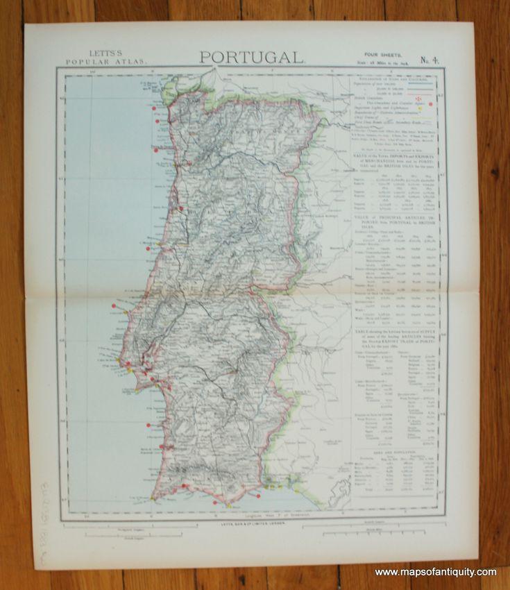 Portugal Four of Four Antique Maps
