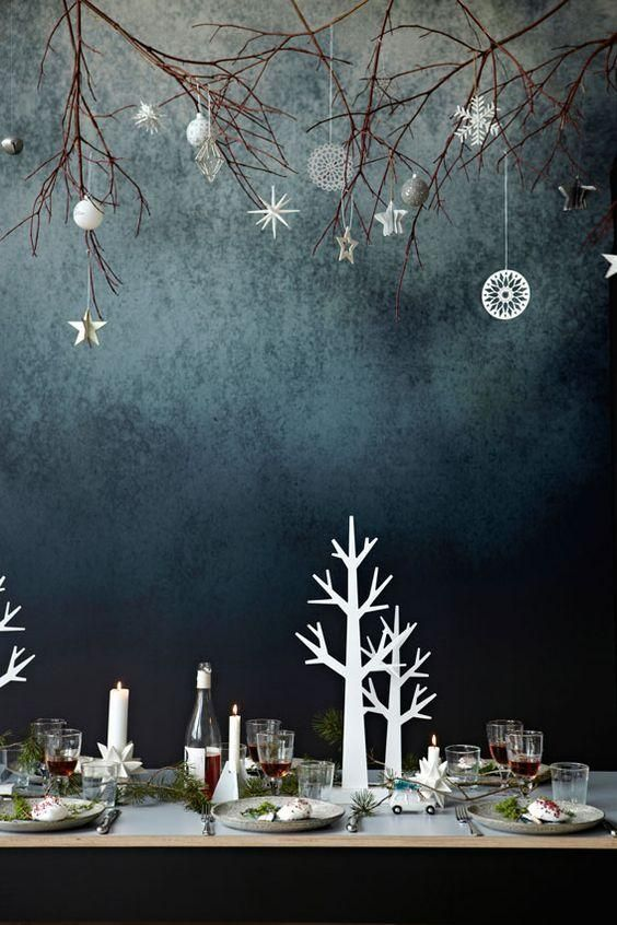 Just right Christmas decorations. - 73 Beautiful Examples Of Scandinavian-Style Christmas Decorations