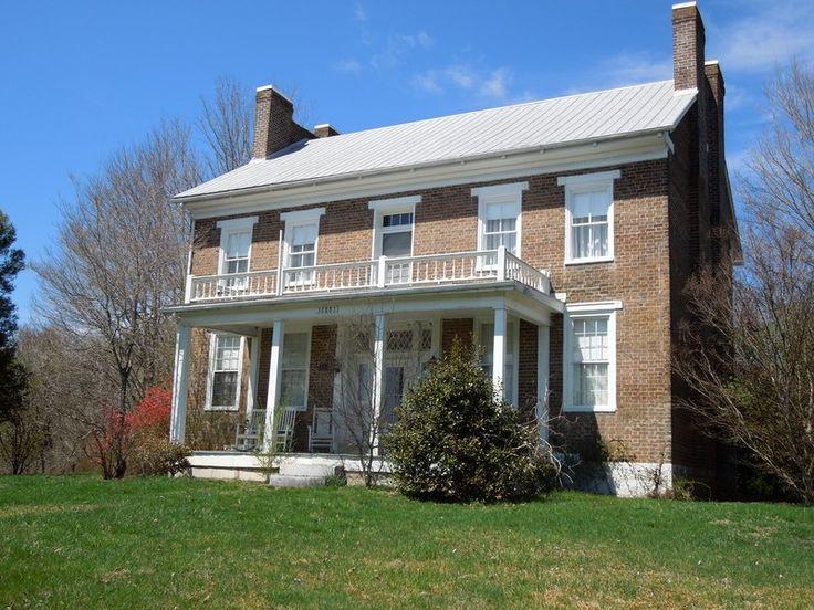 Oldhouses 1840 Federal Enson Milbourn House In Jonesville Virginia