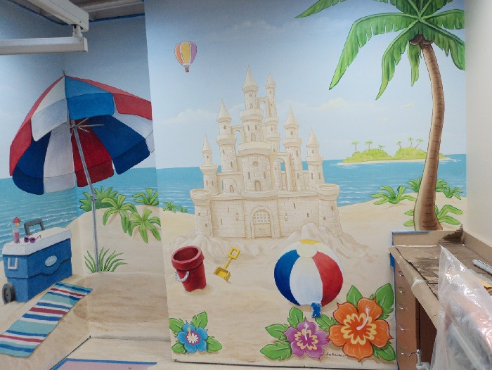 1000 images about murals i like on pinterest photos for Beach scene mural