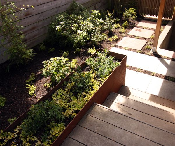 how to build a garden box with landscape timbers