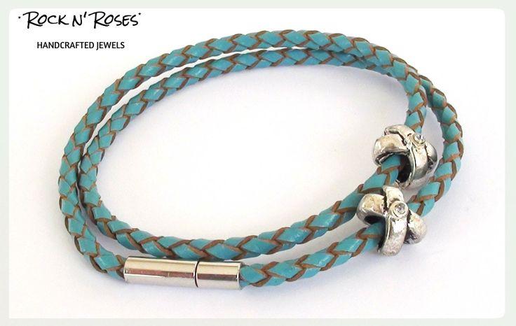 ★__Rock n' Roses handcrafted jewels--leather bracelet__★  http://rocknroses-gr.blogspot.gr/