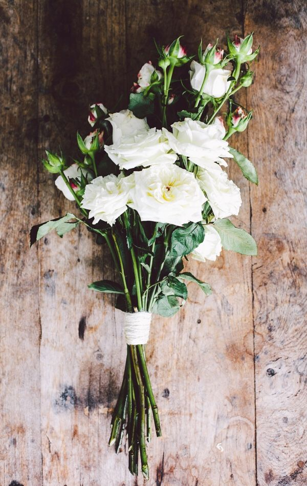 simple white bouquet #love #florals #wedding #bridal