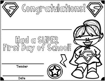 First Day of School Superhero Watches, Crowns, Journals, C