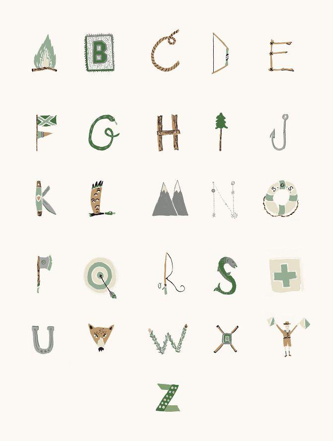 Woodsy Type by Danielle Kroll