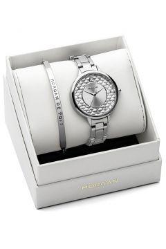 Set Morgan Damen-Uhren und armband Edelstahl https://modasto.com/kadin-aksesuar-taki-saat/ct34 #saat
