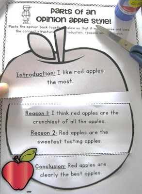 Johnny Appleseed Opinion Writing First and Second Grade step by step guide