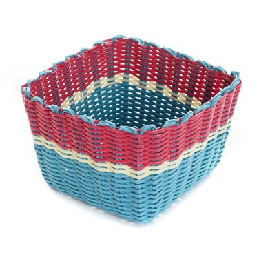 aqua Carolyn Donnelly Eclectic Square Basket