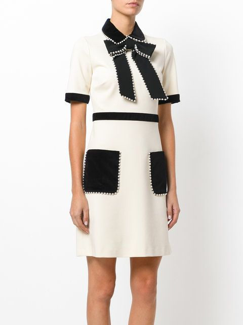 f4de47c21 Gucci Short-sleeved Embellished Dress - Farfetch   Dresses   Dresses ...