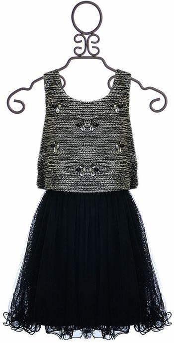 Hannah Banana Fancy Dress for Girls in Black