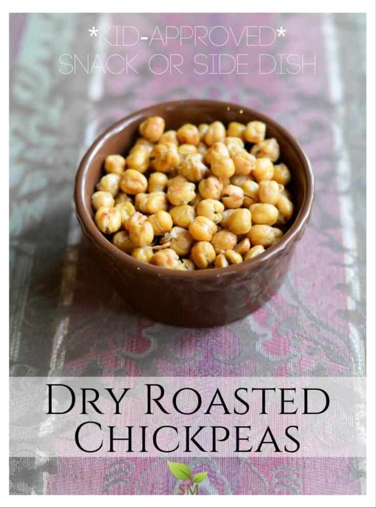 Dry Roasted Chickpeas (a snack or side dish!)